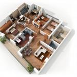 Mẫu chung cư 4 phòng ngủ – hiện đại – lý tưởng cho gia đình quy mô lớn (P.1)