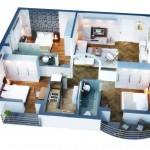 Chung cư 3 phòng ngủ – cho cuộc sống hiện đại hoàn hảo (P.2)