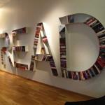 Thiết kế nội thất nhà đẹp với sách
