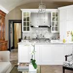 Bài trí bếp hiện đại, mát mẻ với sắc trắng