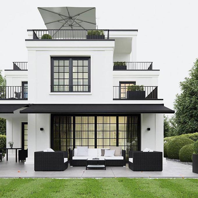 Mẫu thiết kế nhà với màu sắc hiện đại