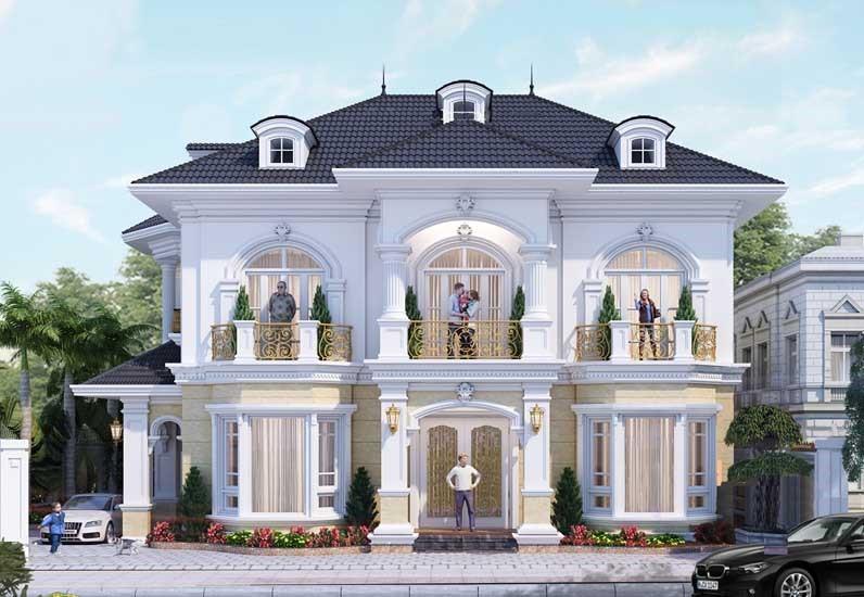Thiết kế biệt thự với kiến trúc vượt thời gian