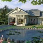 Biệt thự vườn được thiết kế theo đường cong