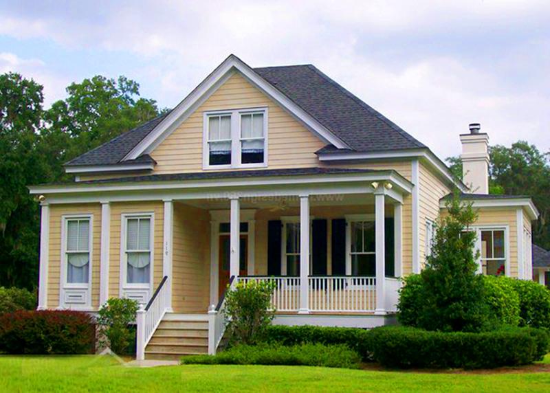 Biệt thự nhà vườn kiểu Mỹ mang phong cách kiến trúc và phong cách thiết kế mới la, độc đáo