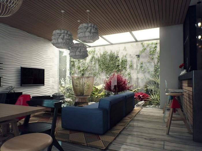 Cửa sổ áp mái giúp cho ngôi nhà giao hòa với thiên nhiên