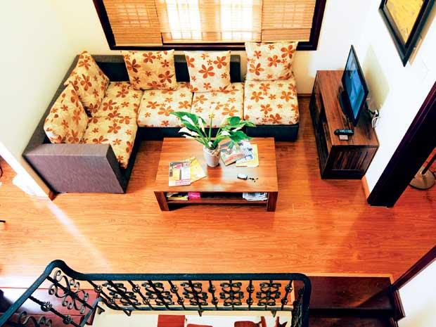 Không gian nội thất lớn như phòng khách – sinh hoạt chung dễ lựa với những đồ mua.