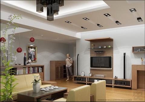 Không gian mở rộng nhìn từ hướng phòng khách