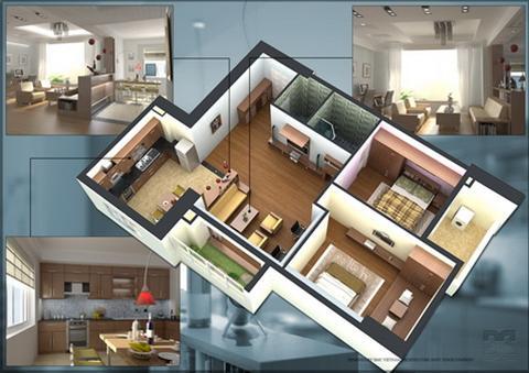 Phối cảnh các mặt bằng thiết kế căn hộ