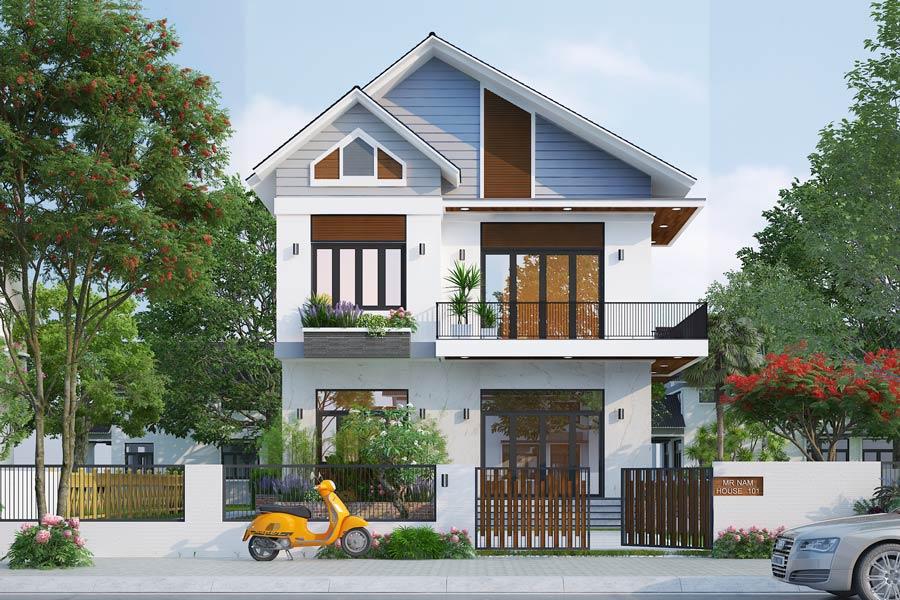 mẫu nhà 2 tầng nông thôn đẹp, chi phí xây dựng hợp lý