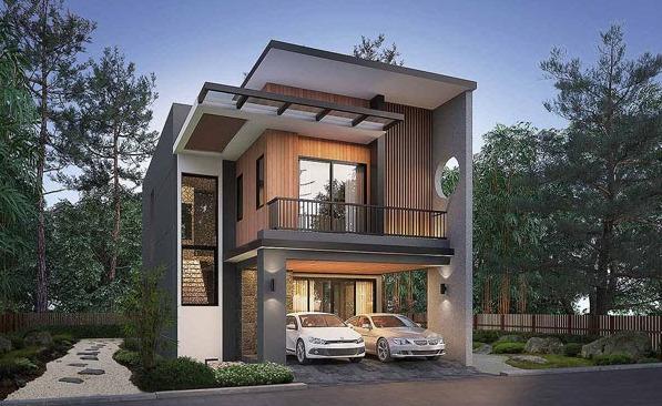 Mẫu nhà 2 tầng nông thôn đẹp với kiến trúc mở