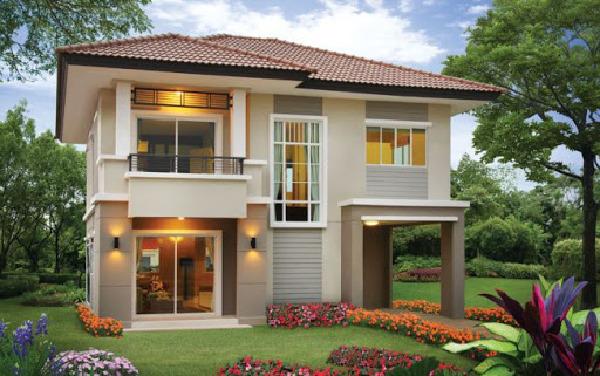 Mẫu nhà 2 tầng với diện tích 8x8m2