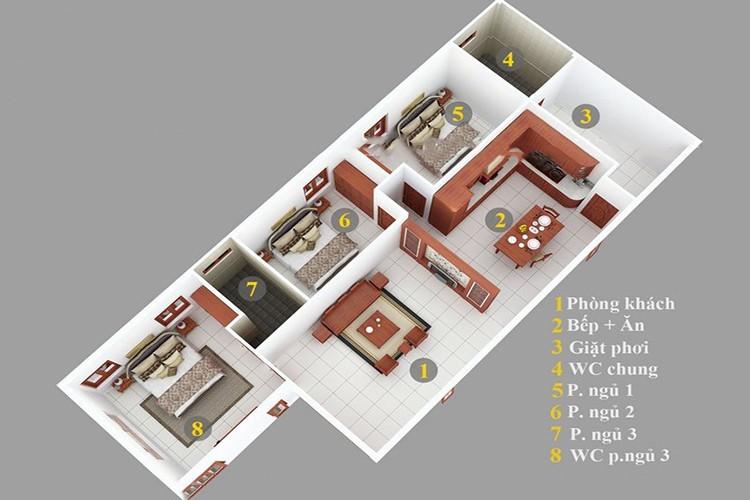 Thiết kế nhà dành cho gia đình có đông thành viên