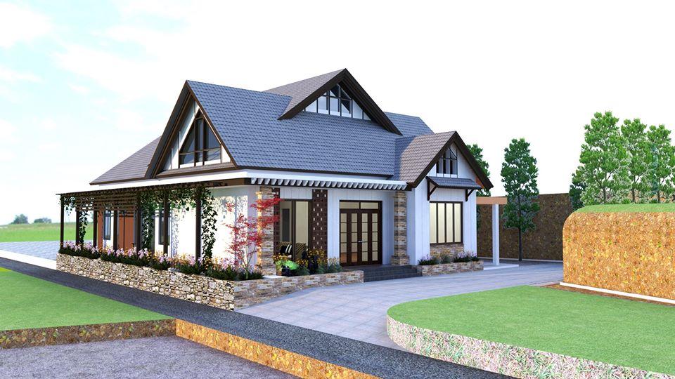 Thiết kế nhà cấp 4 kết hợp sân vườn