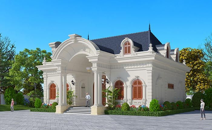 Mẫu thiết kế biệt thự 1 tầng