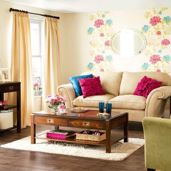 """Chọn màu sơn tường và màu nội thất giống nhau cũng là một cách để bạn """"mở rộng"""" không gian nhỏ hẹp của căn phòng."""